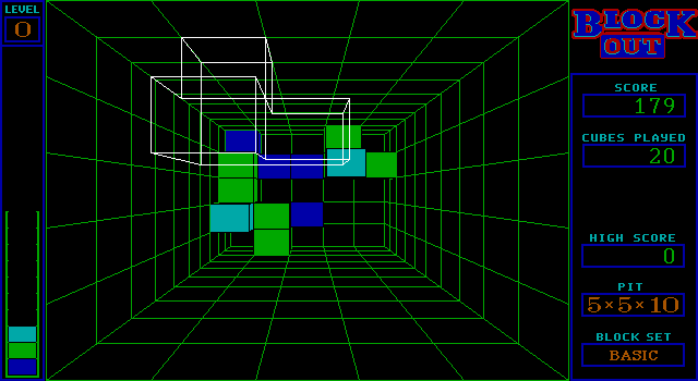 Blockout | Old DOS Games | Download for Free or play on