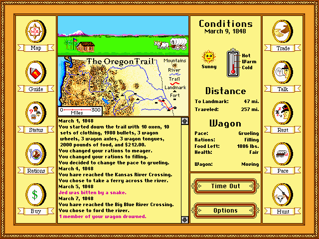 free online games oregon trail