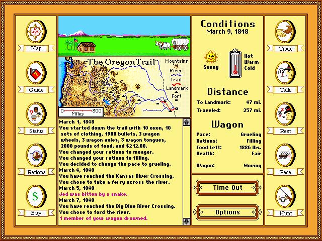 original oregon trail game online free no download