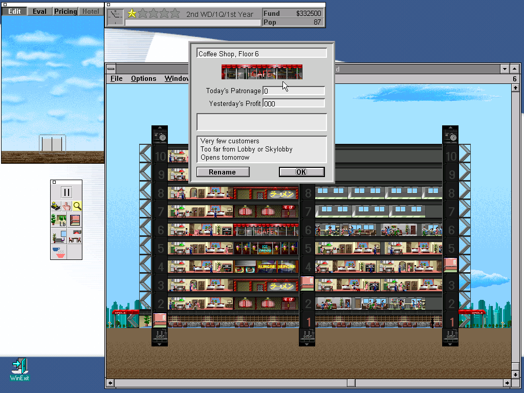 Sim tower old dos games download for free or play on for Online games similar to sims