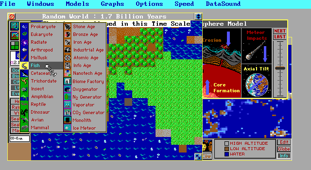 SimEarth | Old DOS Games | Download for Free or play on
